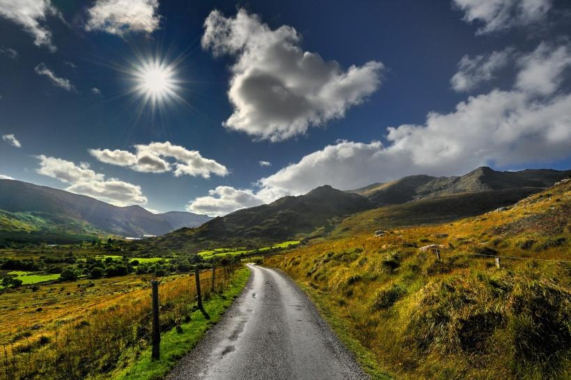 Irlandia, Gap of Dunloe, krajobraz wiejski